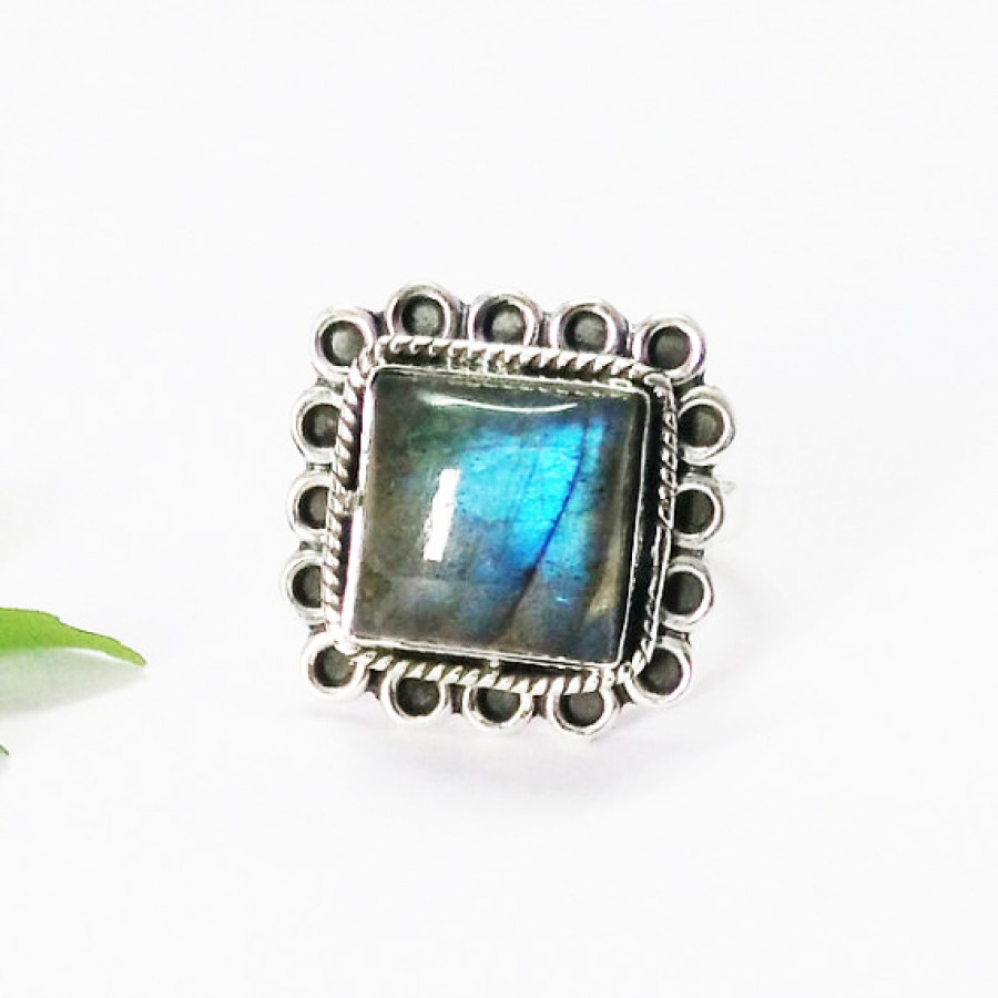 Exclusive NATURAL FIRE LABRADORITE Gemstone Ring, Birthstone Ring, 925 Sterling Silver Ring, Fashion Handmade Ring, All Ring Size, Gift Ring