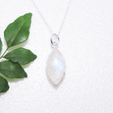 Beautiful NATURAL BLUE FIRE RAINBOW MOONSTONE Gemstone Pendant, Birthstone Pendant, 925 Sterling Silver Pendant, Fashion Handmade Pendant, Free Chain, Gift Pendant