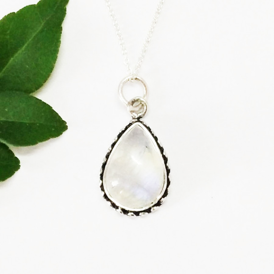 Gorgeous NATURAL BLUE FIRE RAINBOW MOONSTONE Gemstone Pendant, Birthstone Pendant, 925 Sterling Silver Pendant, Fashion Handmade Pendant, Free Chain, Gift Pendant
