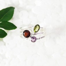 Attractive NATURAL MULTI GEMSTONE Ring, Birthstone Ring, 925 Sterling Silver Ring, Fashion Handmade Ring, All Ring Size, Gift Ring