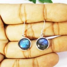 Gorgeous NATURAL BLUE FIRE LABRADORITE Gemstone Earrings, Birthstone Earrings, 925 Sterling Silver Earrings, Fashion Handmade Earrings, Dangle Earrings, Gift Earrings