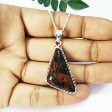 Gorgeous NATURAL OBSIDIAN Gemstone Pendant, Birthstone Pendant, 925 Sterling Silver Pendant, Fashion Handmade Pendant, Free Chain, Gift Pendant