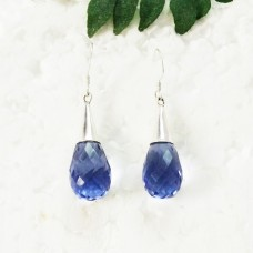 Beautiful BLUE IOLITE Gemstone Earrings, Birthstone Earrings, 925 Sterling Silver Earrings, Fashion Handmade Earrings, Dangle Earrings, Gift Earrings
