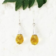 Gorgeous YELLOW CITRINE Gemstone Earrings, Birthstone Earrings, 925 Sterling Silver Earrings, Fashion Handmade Earrings, Dangle Earrings, Gift Earrings