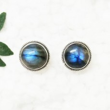 Exclusive NATURAL BLUE FIRE LABRADORITE Gemstone Earrings, Birthstone Earrings, 925 Sterling Silver Earrings, Fashion Handmade Earrings, Stud Earrings, Gift Earrings