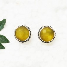 Gorgeous YELLOW ONYX Gemstone Earrings, Birthstone Earrings, 925 Sterling Silver Earrings, Fashion Handmade Earrings, Stud Earrings, Gift Earrings