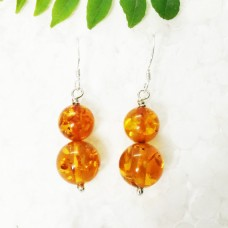 Attractive BALTIC AMBER Gemstone Earrings, Birthstone Earrings, 925 Sterling Silver Earrings, Fashion Handmade Earrings, Dangle Earrings, Gift Earrings