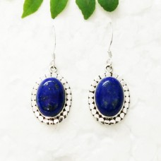 Exotic NATURAL LAPIS LAZULI Gemstone Earrings, Birthstone Earrings, 925 Sterling Silver Earrings, Fashion Handmade Earrings, Dangle Earrings, Gift Earrings