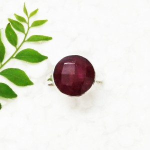 Gorgeous NATURAL INDIAN RUBY Gemstone Ring, Birthstone Ring, 925 Sterling Silver Ring, Fashion Handmade Ring, All Size, Gift Ring