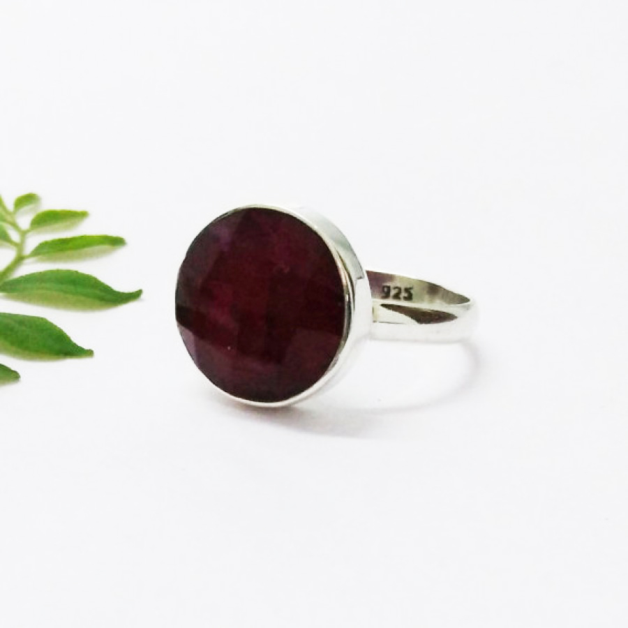 Gorgeous NATURAL INDIAN RUBY Gemstone Ring, Birthstone Ring, 925 Sterling Silver Ring, Fashion Handmade Ring, All Ring Size, Gift Ring