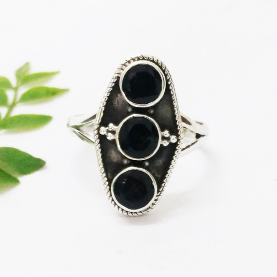 Attractive NATURAL BLACK TOURMALINE Gemstone Ring, Birthstone Ring, 925 Sterling Silver Ring, Fashion Handmade Ring, All Ring Size, Gift Ring