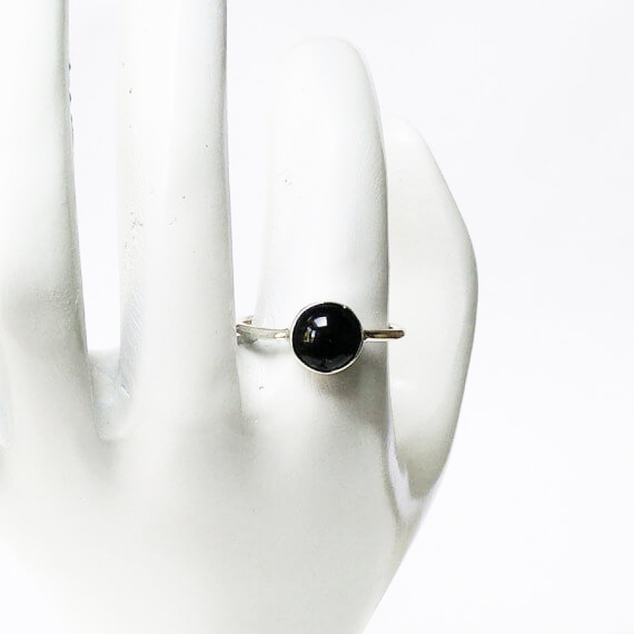 Beautiful NATURAL BLACK TOURMALINE Gemstone Ring, Birthstone Ring, 925 Sterling Silver Ring, Fashion Handmade Ring, All Ring Size, Gift Ring