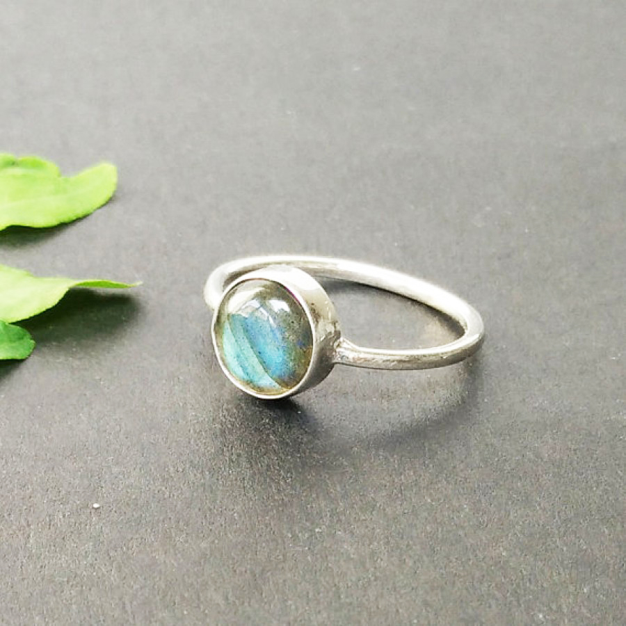 Exotic NATURAL BLUE FIRE LABRADORITE Gemstone Ring, Birthstone Ring, 925 Sterling Silver Ring, Fashion Handmade Ring, All Ring Size, Gift Ring