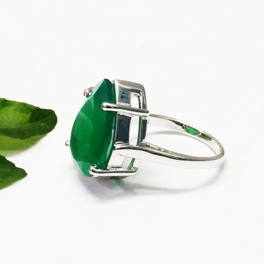 Beautiful GREEN ONYX Gemstone Ring, Birthstone Ring, 925 Sterling Silver Ring, Fashion Handmade Ring, All Ring Size, Gift Ring