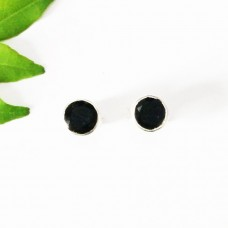 Beautiful NATURAL BLACK TOURMALINE Gemstone Earrings, Birthstone Earrings, 925 Sterling Silver Earrings, Fashion Handmade Earrings, Stud Earrings, Gift Earrings