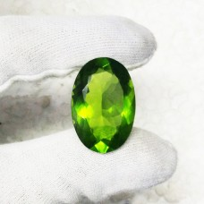 Exotic GREEN PERIDOT Gemstone, AAA Quality Faceted Gemstone, Size 30x20 mm Oval & 41.85 ct Weight Per Piece, Green Gemstone, Loose Gemstones