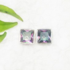 Amazing MIDNIGHT MYSTIC TOPAZ Gemstone Earrings, Birthstone Earrings, 925 Sterling Silver Earrings, Fashion Handmade Earrings, Stud Earrings, Gift Earrings