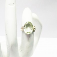 Genuine NATURAL GREEN AMETHYST Gemstone Ring, Birthstone Ring, 925 Sterling Silver Ring, Fashion Handmade Ring, Artisan Jewelry, All Ring Size, Gift Ring