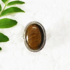Amazing NATURAL TIGER EYE Gemstone Ring, Birthstone Ring, 925 Sterling Silver Ring, Fashion Handmade Ring, All Ring Size, Gift Ring