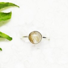 Attractive NATURAL GOLDEN RUTILE Gemstone Ring, Birthstone Ring, 925 Sterling Silver Ring, Fashion Handmade Ring, All Ring Size, Gift Ring