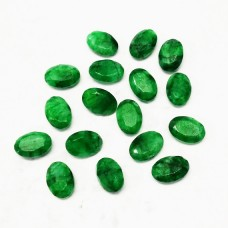 Beautiful NATURAL INDIAN EMERALD Gemstone, AAA Quality Faceted Gemstone, Size 14x10 mm Oval & 7.15 ct Weight Per Piece, Green Gemstone, Loose Gemstones