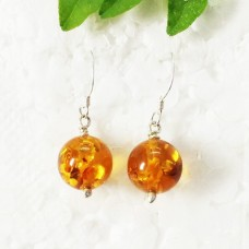 Beautiful BALTIC AMBER Gemstone Earrings, Birthstone Earrings, 925 Sterling Silver Earrings, Fashion Handmade Earrings, Dangle Earrings, Gift Earrings
