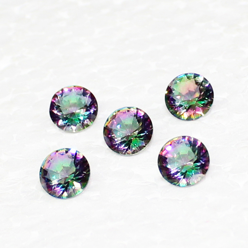 Beautiful MIDNIGHT MYSTIC TOPAZ Gemstone, AAA Quality Faceted Gemstone, Size 7 mm Round & 1.10 ct Weight Per Piece, Multicolor Gemstone, Loose Gemstones