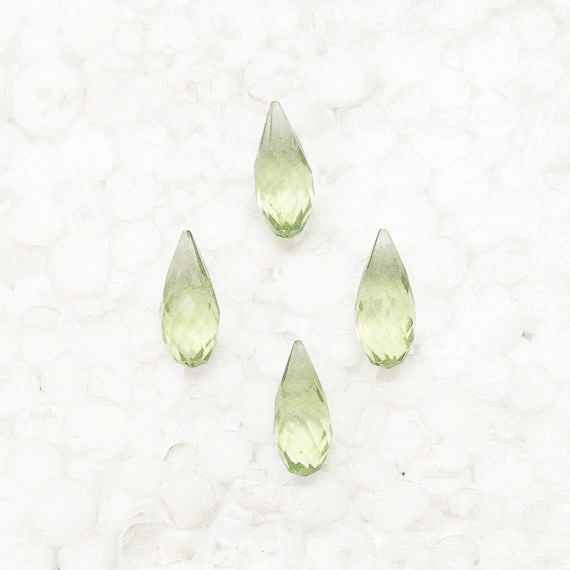 Beautiful GREEN AMETHYST Gemstone, AAA Quality Faceted Gemstone, Size 16x7 mm Drop & 4.70 ct Weight Per Piece, Green Gemstone, Loose Gemstones